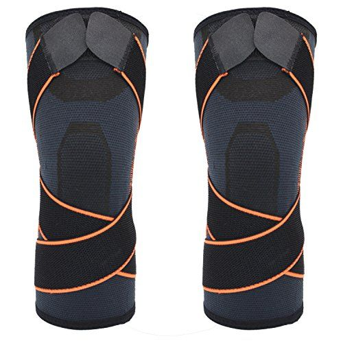 DODOING 1Pair Professional Protective Sports Knee Pads Breathable Bandage Adjustable Knee Brace Basketball Tennis Running Hiking Cycling Knee Protector Support #DODOING #Pair #Professional #Protective #Sports #Knee #Pads #Breathable #Bandage #Adjustable #Brace #Basketball #Tennis #Running #Hiking #Cycling #Protector #Support