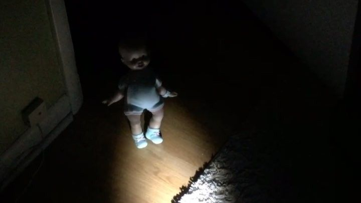 BABY SALLY_ Horror film Uncle kid sitting_ Okay now get to bed .  #yesterday #night #babysitting #nieces #nephew #little #filmmakers #baby #sally  #no #nightmares _ nieces #lighting #camera #laugh at the end #snicker #mini #horror #fun #film #director #nineinchnails