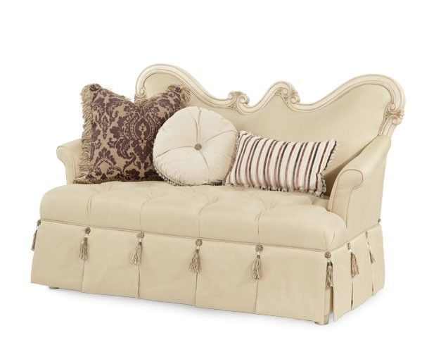 Shop For Aico Amini Innovations Wood Trim Settee, And Other Living Room  Settees At Walter E. Smithe In 11 Chicagoland Locations In Illinois And  Merrillville ...