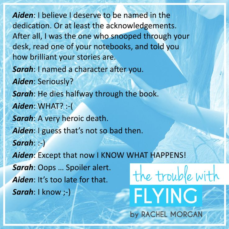 The Trouble with Flying, by Rachel Morgan #sweetcontemporaryromance #YAromance #bookquotes