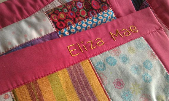 Add on Personalize your baby blanket with hand by mukkymonkey
