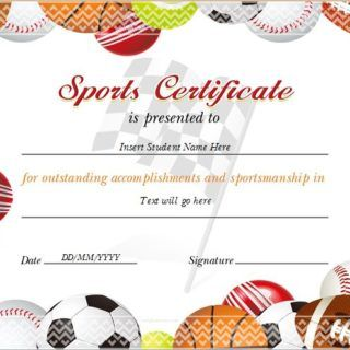 Sports Certificate for MS Word
