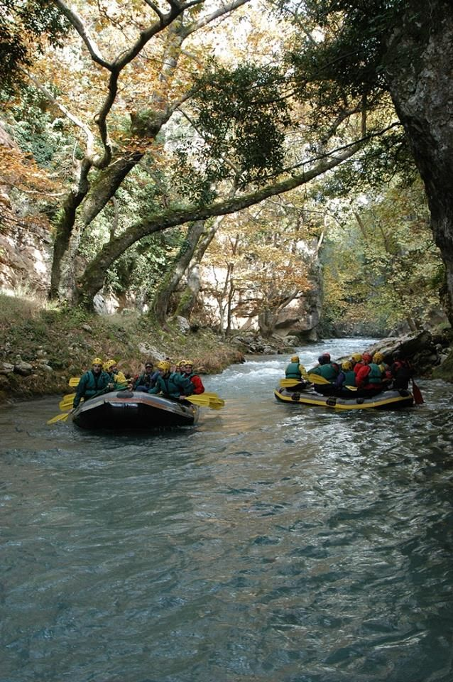Rafting in Loussios River (Peloponnese)