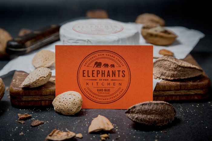 #Packaging we love | Elephants in the Kitchen, Artisan and Vegan Cheese by The Dieline - #inspiration #logos | Six Pony Hitch