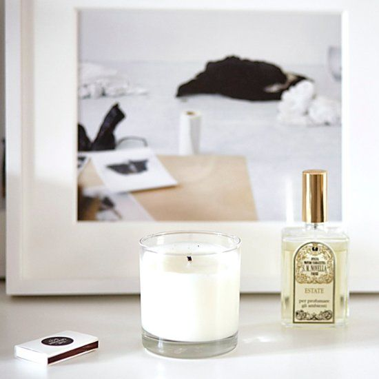 Beach-scented candles will change the mood of your space.