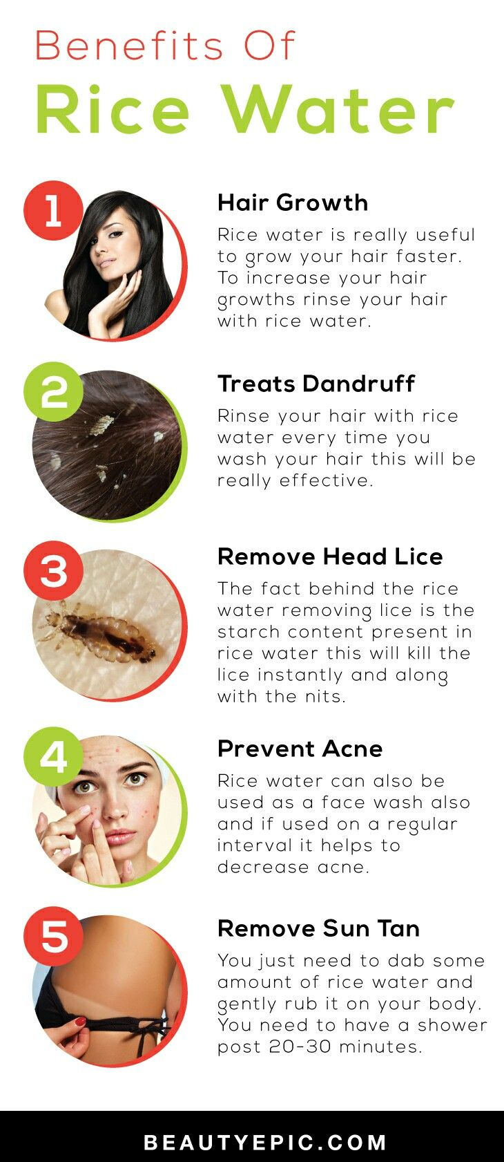 Benefits of Rice water