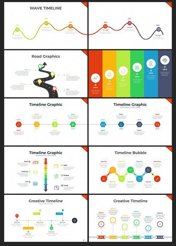 project timeline powerpoint template infographic business templates