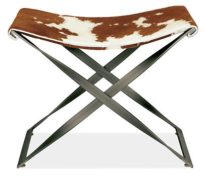 Karr Stool in Cowhide with Gunmetal Base - Stools u0026 Benches - Entryway - Room u0026 Board  sc 1 st  Pinterest & Best 25+ Luggage rack ideas on Pinterest | Vintage suitcases ... islam-shia.org
