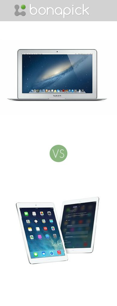 "Apple MacBook Air 11.6"" inch Laptop/ Notebook vs iPad Air 5th Generation Bonapick.com"