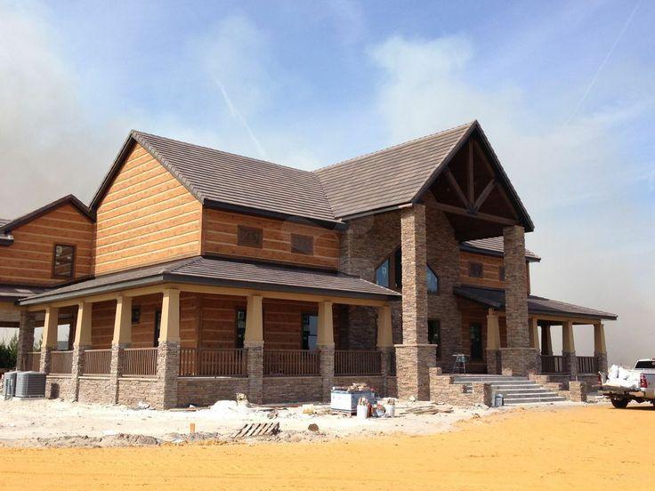 39 best everlog concrete log siding images on pinterest for Concrete log cabins