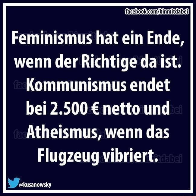 feminismus, atheismus, Kommunismus, Flugzeug **When the time is right, it will happen