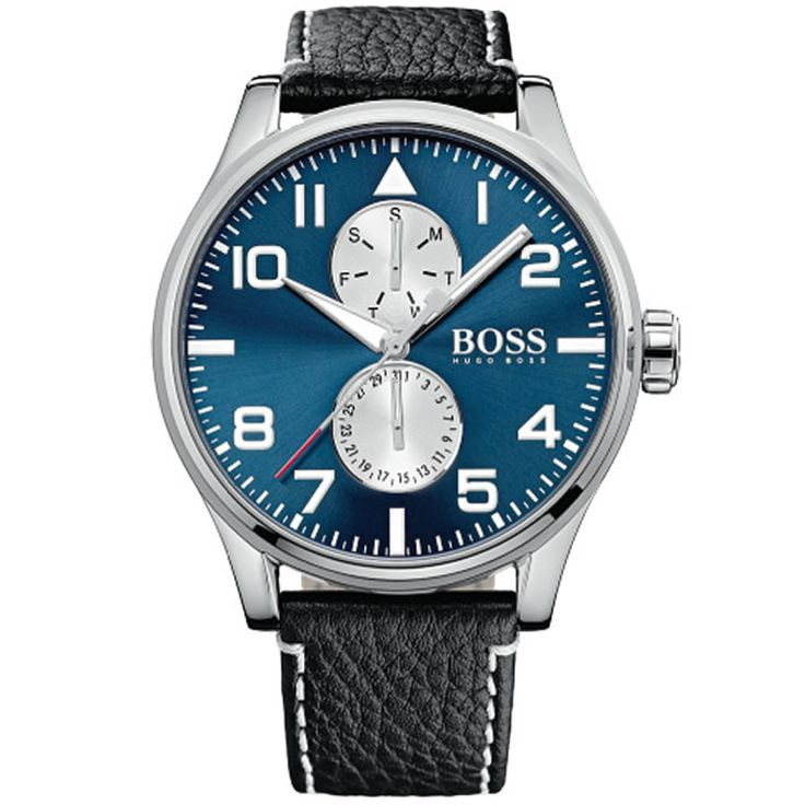 HUGO BOSS Sport Aeroliner Leather Men's Watch