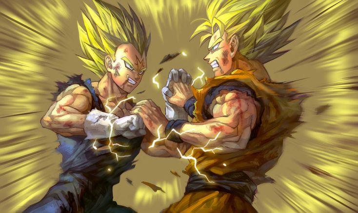 Vegeta VS Goku by GoddessMechanic2 on DeviantArt