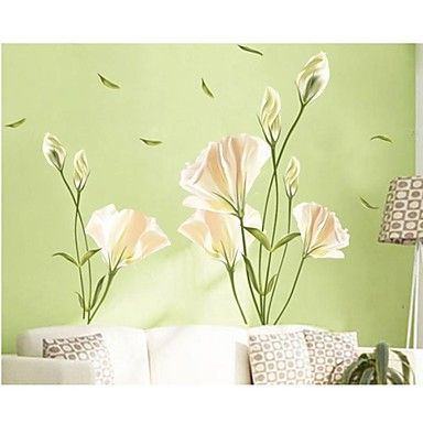 Wall Stickers Wall Decals, Family Flowers Home Decor PVC Wall Stickers - USD $ 6.78