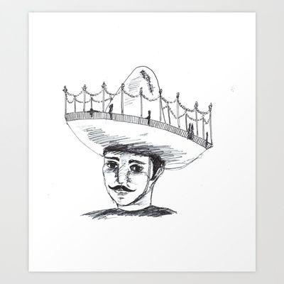 Sombrero+Art+Print+by+Daggy+Jess+-+$15.00