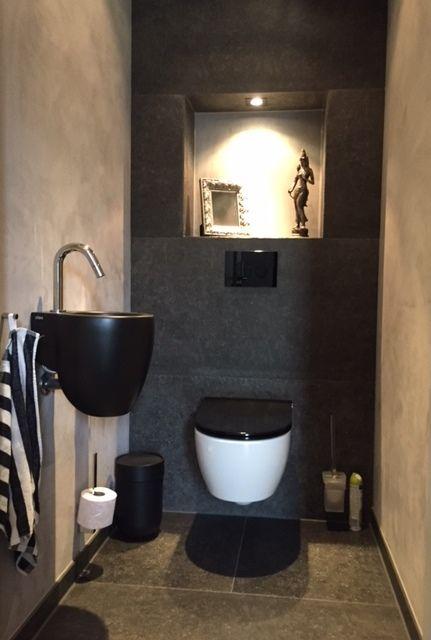Toilet met zwarte accenten Van Manen Badkamers Barneveld   VAN MANEN ...