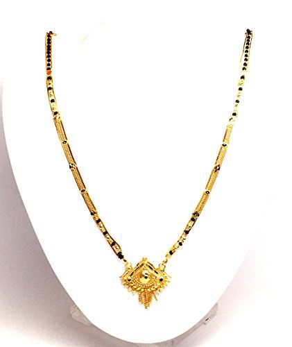 Imitation Gold Plated Long Traditional Mangalsutra Necklace / AZMNGT018-GLD Arras Creations http://www.amazon.com/dp/B00W2VX5OS/ref=cm_sw_r_pi_dp_sAvWvb038D66A