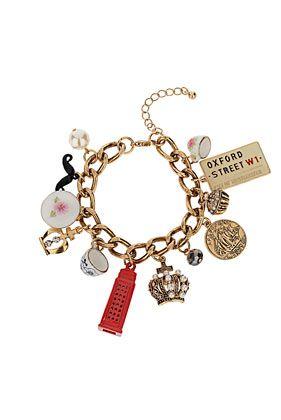Jubilee Tea Cup Charm Bracelet