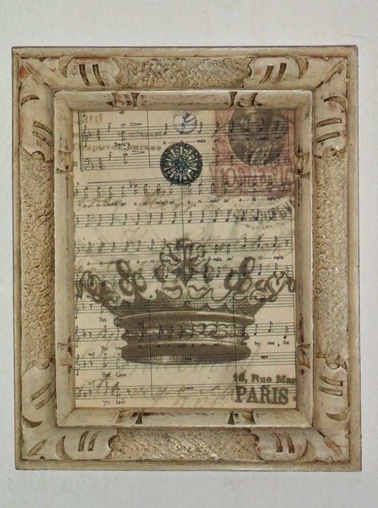 En lo de la tata cuadros con marcos antiguos reciclados y - Marcos de cuadros vintage ...