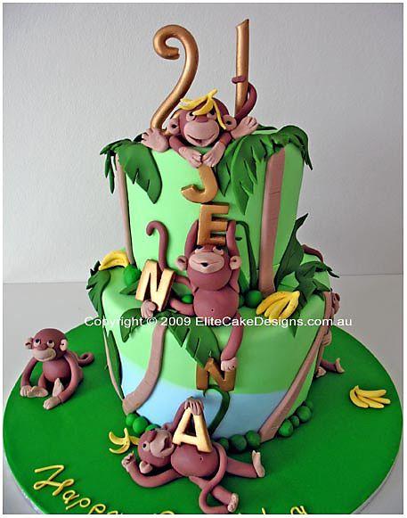 Wild Jungle birthday cake