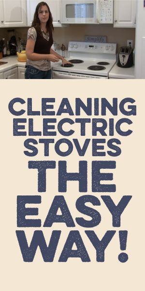 Cleaning Electric Stoves The Easy Way!
