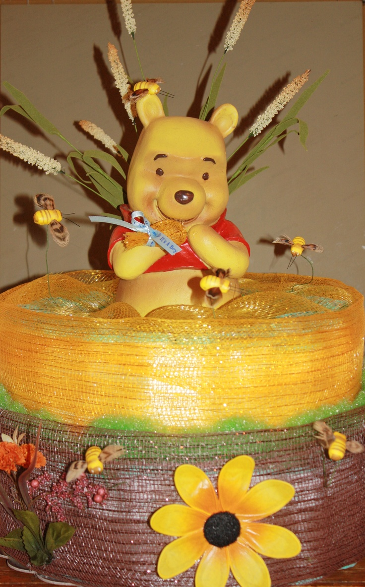 Winnie the pooh baby shower centerpiece ideas 48pc baby shower winnie - Diaper Cake Winnie The Pooh For Boy Interested Chaton331 Hotmail Com For Sale Winnie The Poohdiaper Cakesbaby Showerdiapers