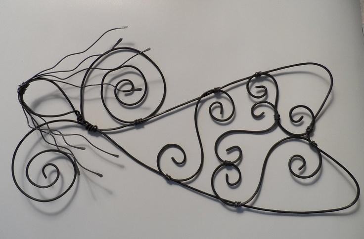 Wire Art Sculpture Angel. $23.25, via Etsy.