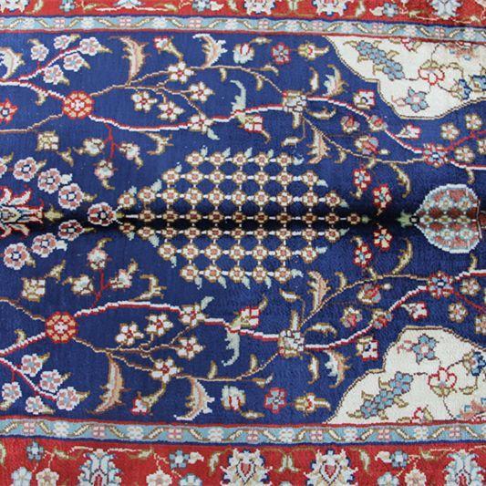 2'x3 mesleki el yapımı çince fars ipek halı seccade