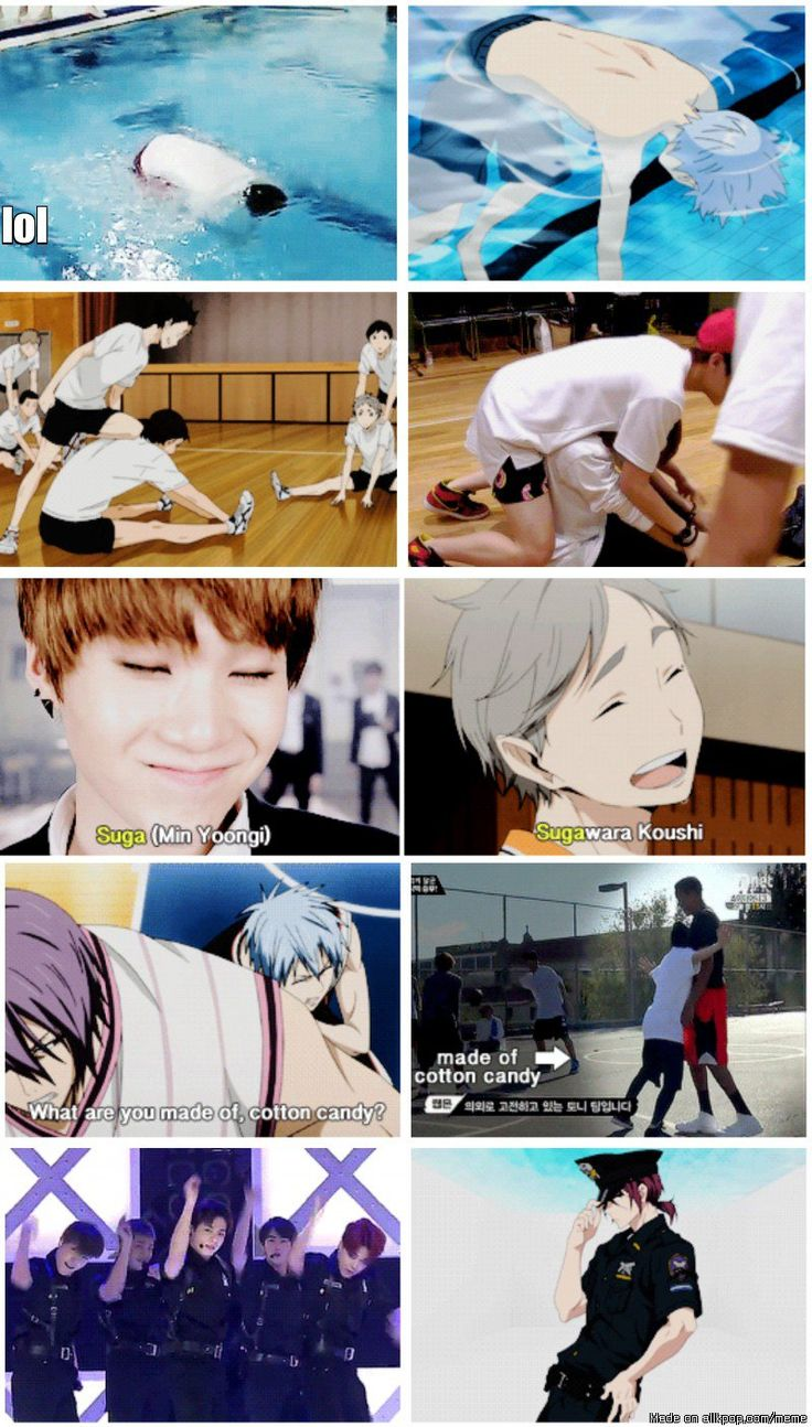 when BTS are sport Anime AF AND I LOVE THAT ANIME AS WELLLLLLL WOOO