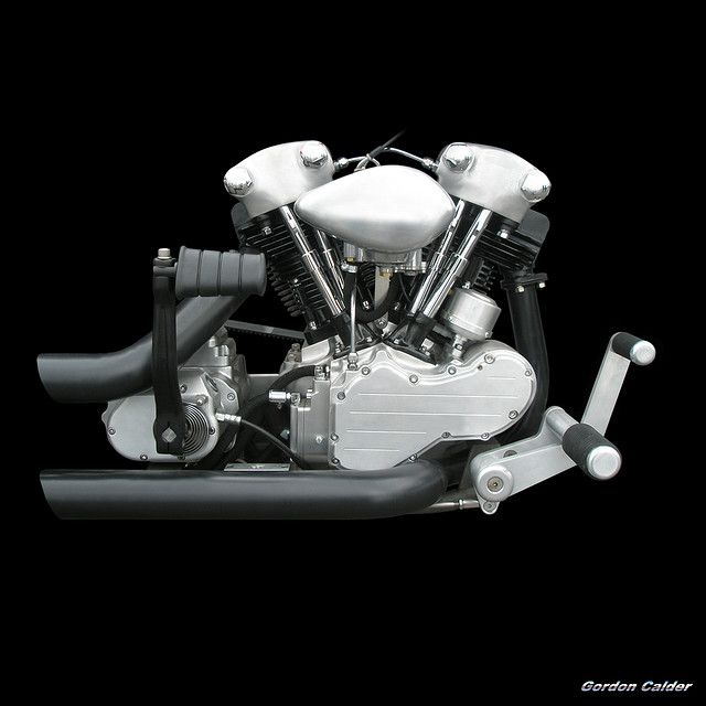 NO 54: HARLEY DAVIDSON KNUCKLEHEAD MOTORCYCLE ENGINE (2) | by Gordon Calder