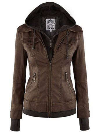 This slim jacket featured with removable hat, it can wear as jacket or hooded coat. With five colors and four sizes, there will be suit for you. Color: Black,Brown,Light Coffee, Dark Coffee, Apricot S