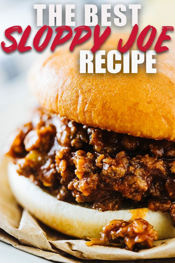 This is the BEST homemade Sloppy Joe Recipe! We've been making it for years and all love it. It's sweet and tangy with just a little bit a kick. Forget Manwich, make this recipe instead! #sloppyjoe #sandwich #sloppyjoes #quickdinner