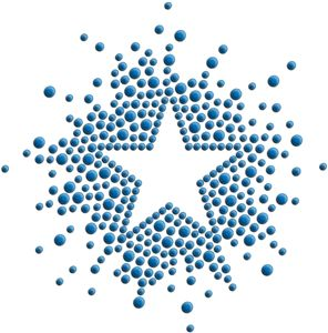 Silhouette Design Store - View Design #6443: star inverted rhinestones
