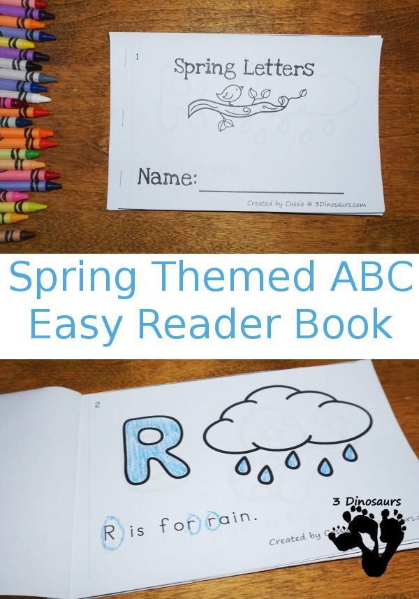 Free Spring Themed ABC Easy Reader Book
