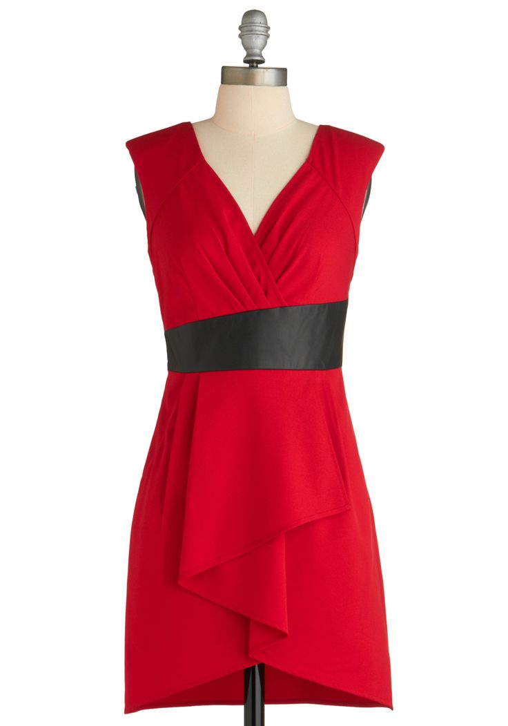 Red crossover dress
