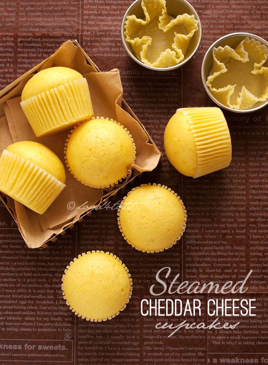 steamed cupcakes, mushipan, Japanese steamed bread, cheddar cheese, snack, toddler, healthy, food 4 tots