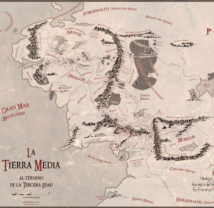 Fantásticos mapas de la Tierra Media en alta resolución y en español | El Anillo Único