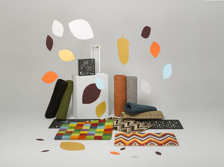 Doormats in autumn colours