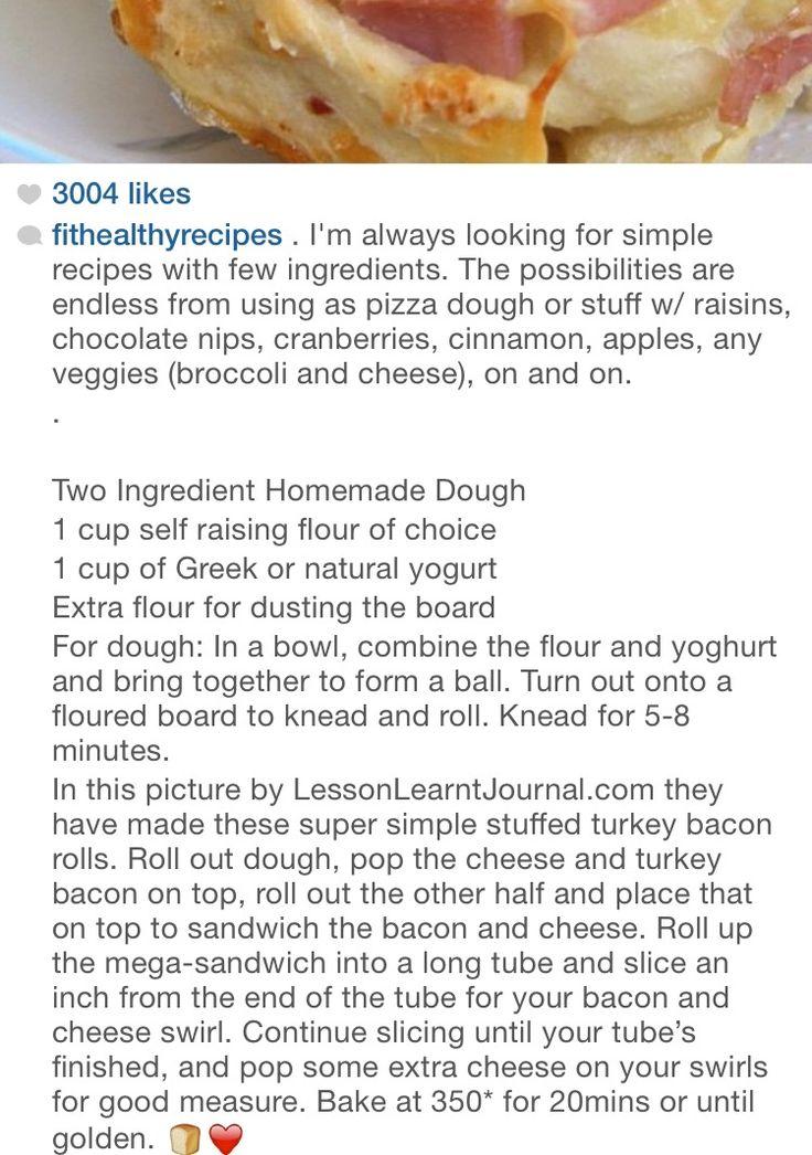 Two ingredients pizza dough {greek yogurt & flour}