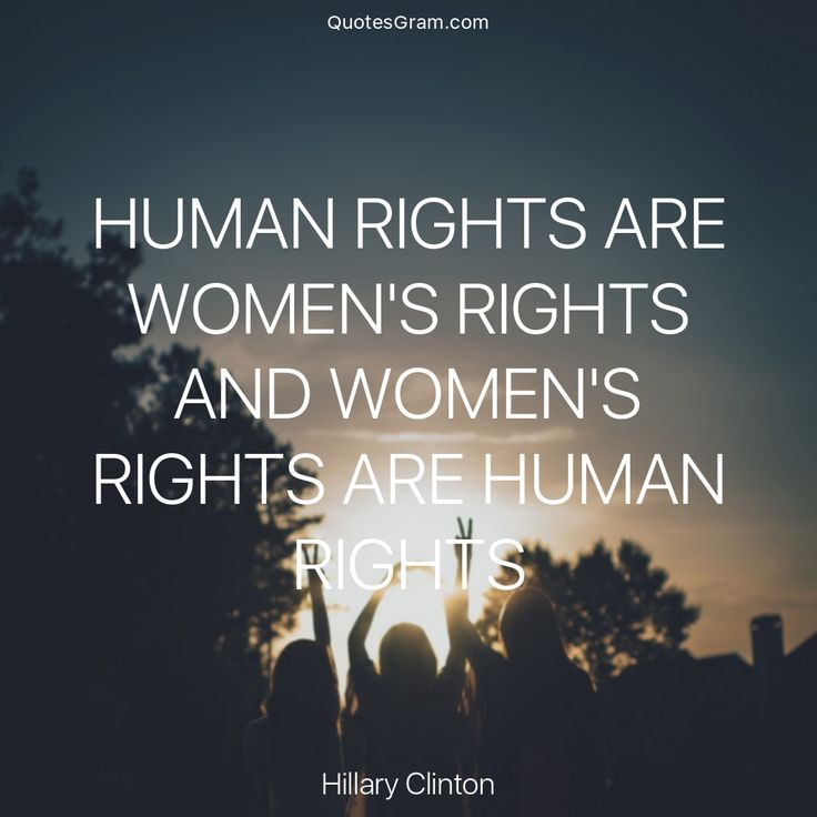 "Quote of the Day ""Human rights are women's rights and women's rights are human rights."" - Hillary Clinton http://lnk.al/2vWV"
