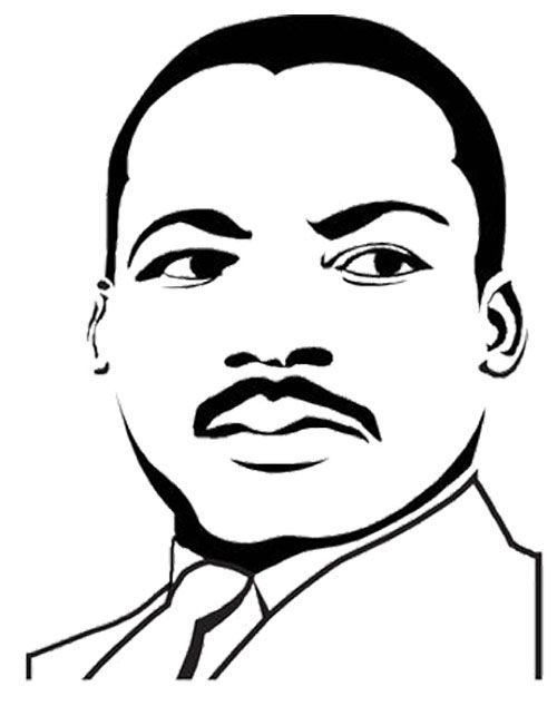 martin luther king face coloring page