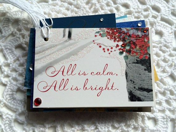 Christmas Words and Phrases Holiday Gift Tags by EllieMarieDesigns