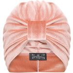 The Future Heirlooms Boutique Ava Velvet Turban in Nude