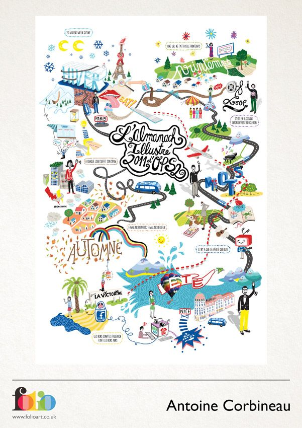 Antoine Corbineau: www.folioart.co.uk/illustration/folio/artists/illustrator/antoine-corbineau - Agency: www.folioart.co.uk - #illustration #art #digital #map