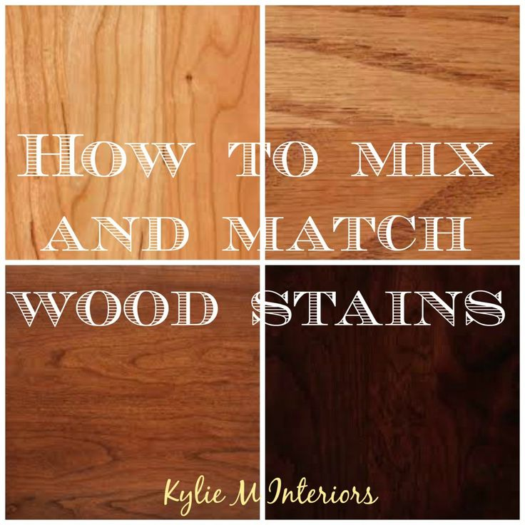 How to mix and match wood stains. Coordinate oak, cherry, maple, espresso and pine. Coordinate flooring, cabinets, furniture and more...