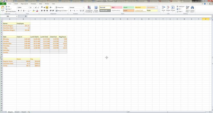 How to Make a Weekly Timesheet Calculator in Microsoft Excel