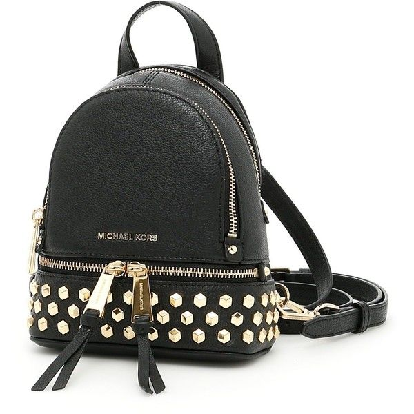 Extra Small Rhea Stud Backpack (755 BRL) ❤ liked on Polyvore featuring bags, backpacks, womenbagsbackpacks, knapsack bag, daypack bag, pocket bag, michael michael kors and day pack backpack