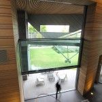 The tallest Guillotine (Vertically Sliding) glass doors in Australia.  Architect: Peter Christoff — VIC