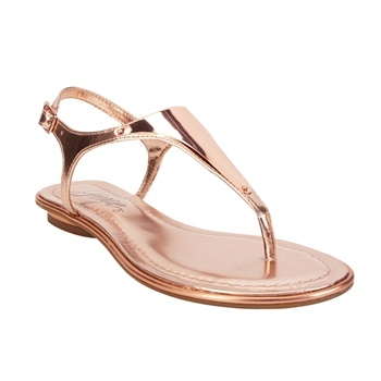 Fergie Bali Metallic Sandal~ rose gold! This is a gorgeous shoe- treat like a neutral only $65