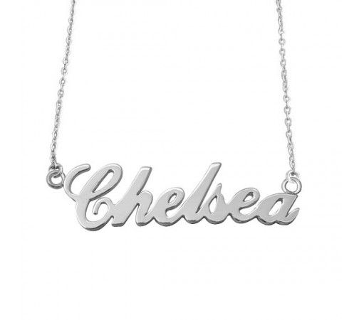 Personalized Chelsea Name Necklace in Sterling Silver
